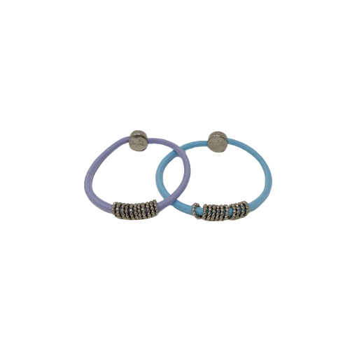 By Lilla Silver shaker hair tie