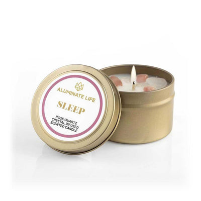 Sleep candle tin