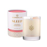 Sleep glass Rose Quartz Crystal-Infused Candle