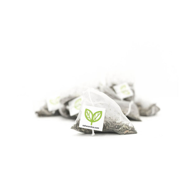 Studio Line Green Mate pyramid bags, 20 count | Studio Line by Sahara Tea
