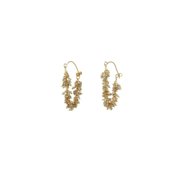 Fringe Hoop Earrings | Catherine Weitzman Jewelry