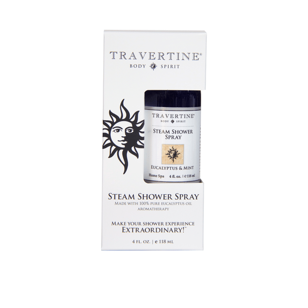 Eucalyptus + Mint Steam Shower Spray (4oz) | Travertine Spa