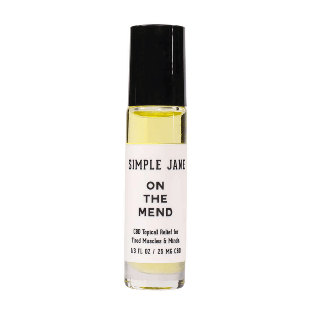 On The Mend Massage Oil Roll-On | Travel Size! 0.3oz | Simple Jane
