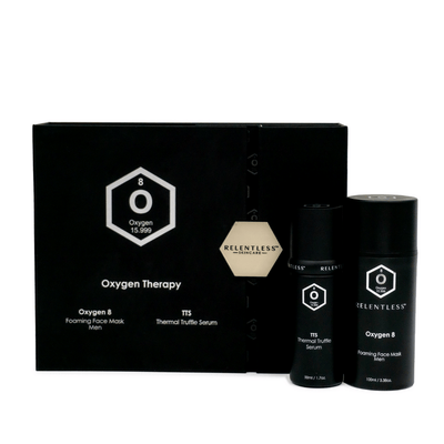 Men's Duo Skincare Set - Oxygen 8 Foaming Mask + Bio Serum | Relentless Skincare