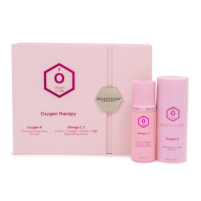 Women's Duo Skincare Set - Oxygen 8 Foaming Mask + Omega C Brightening Serum | Relentless Skincare