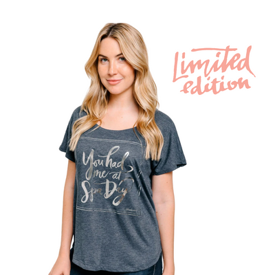 Limited Edition Promotion - You had me at Spa Day t-shirt - navy | Live Love Spa