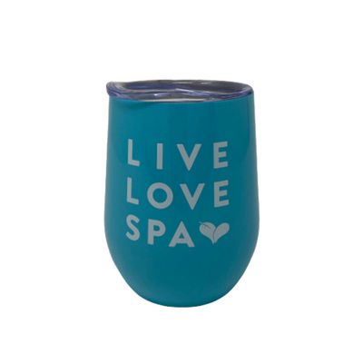Live Love Spa Tumbler - Blue | Lucky Owl