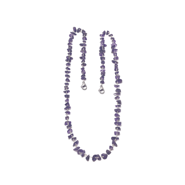 Amethyst Face Mask Chain | Monica Mauro
