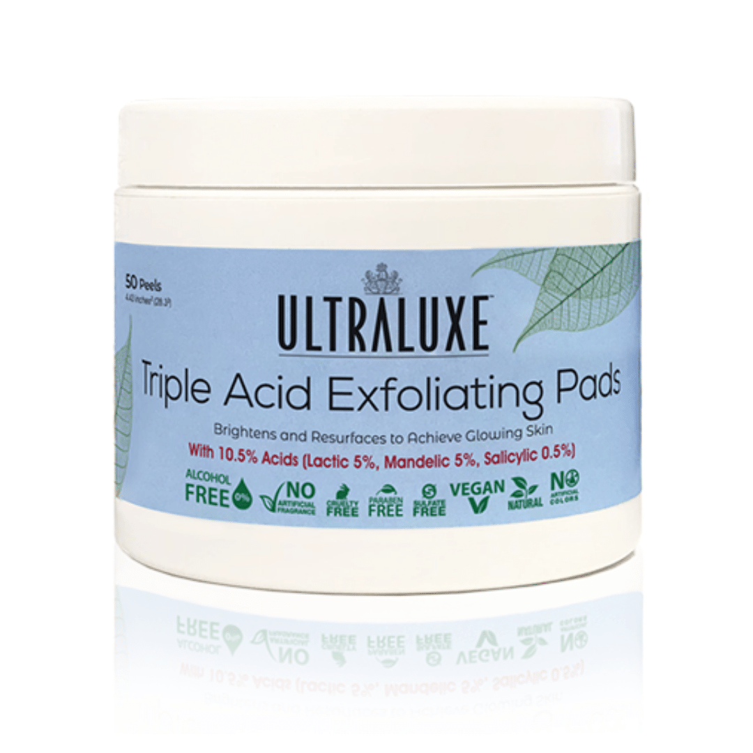 Triple Acid Exfoliating Pads | Ultraluxe Skincare