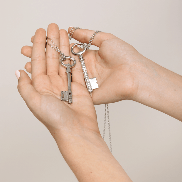Affirmation Sparkle Key Necklaces | Lucky Owl