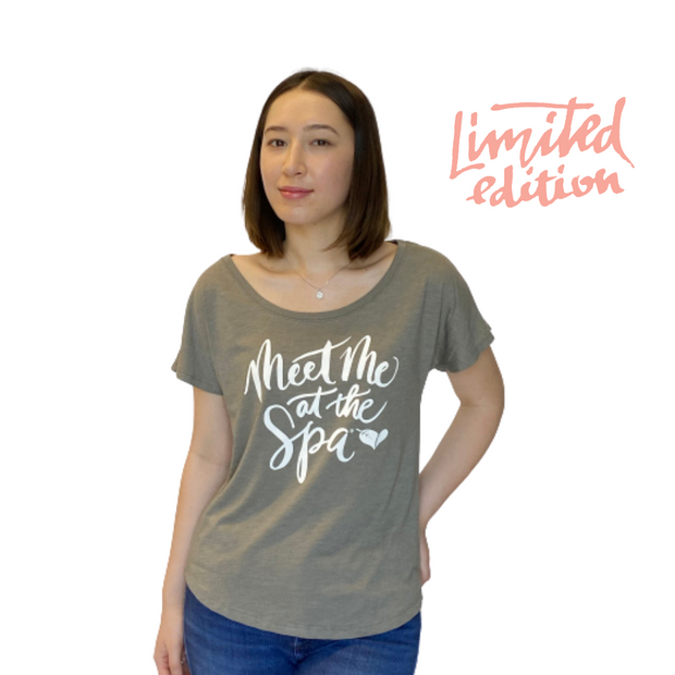 Limited Edition Promotion - Meet Me at the Spa Cursive Dolman Tee