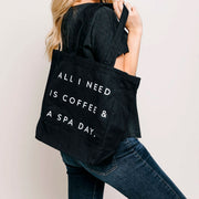 Coffee & Spa Day Tote Bag