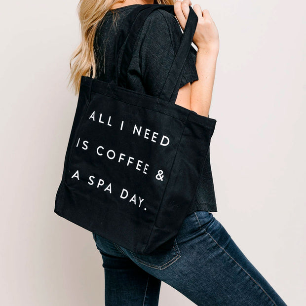 Coffee & Spa Day Tote Bag | Lucky Owl