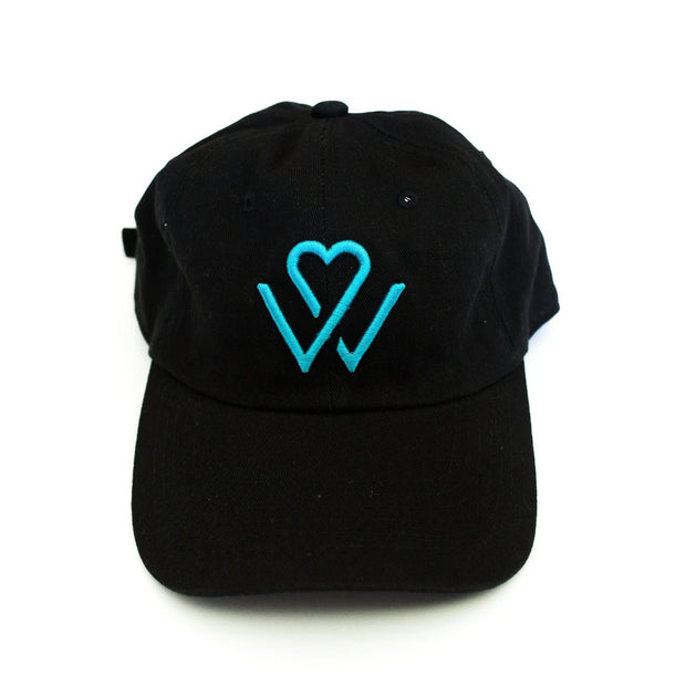Wellness Month Logo Dad Hat - Black w/Blue Logo