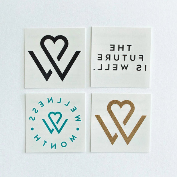 Wellness Month Tattoos (4 pack)