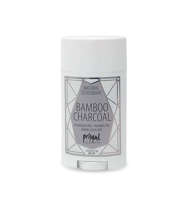 Natural Deodorant 2.65 oz. - BAMBOO CHARCOAL | Primal Elements