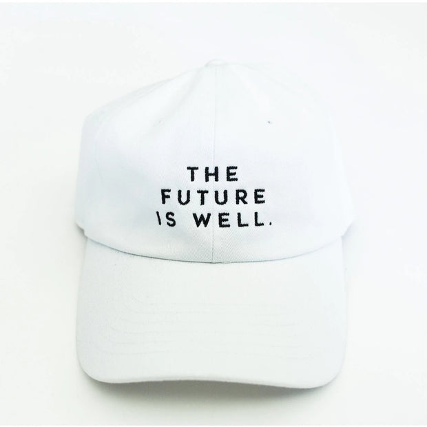 Wellness Month Dad Hat - Future is Well - White