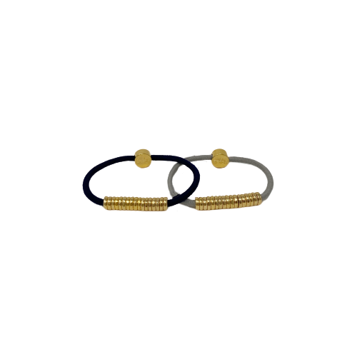 by Lilla gold disc hair tie