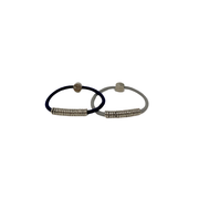 By Lilla silver disc neutral hair tie
