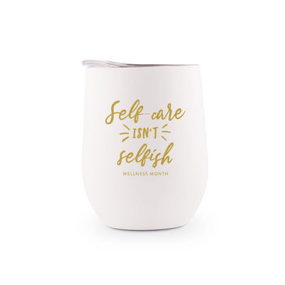 Self Care Isn't Selfish Stainless Steel Tumbler | Lucky Owl