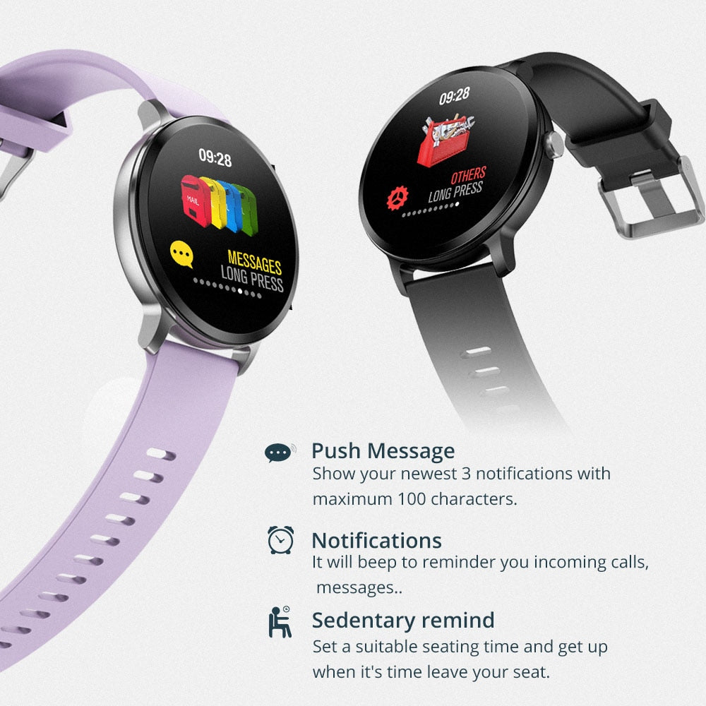 Tempered Glass Smart Watch IP67