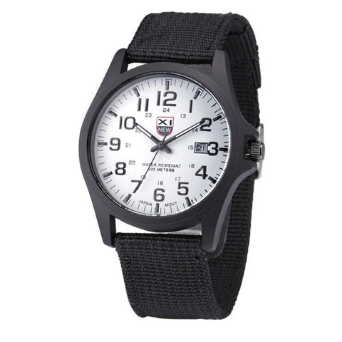 Outdoor Mens Stainless Steel Military Sports  Wrist Watch