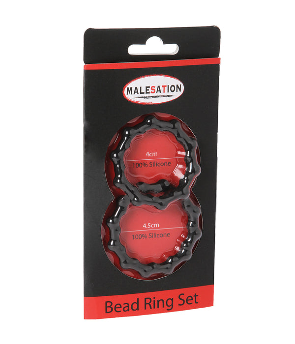 Malesation 2 Piece Bead Cock Ring Set
