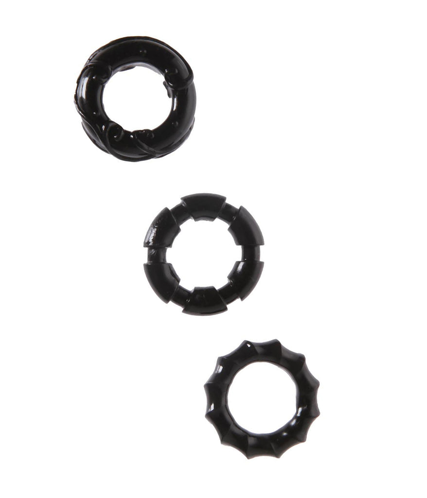 Malesation 3 Piece Stretchy Cock Ring Set