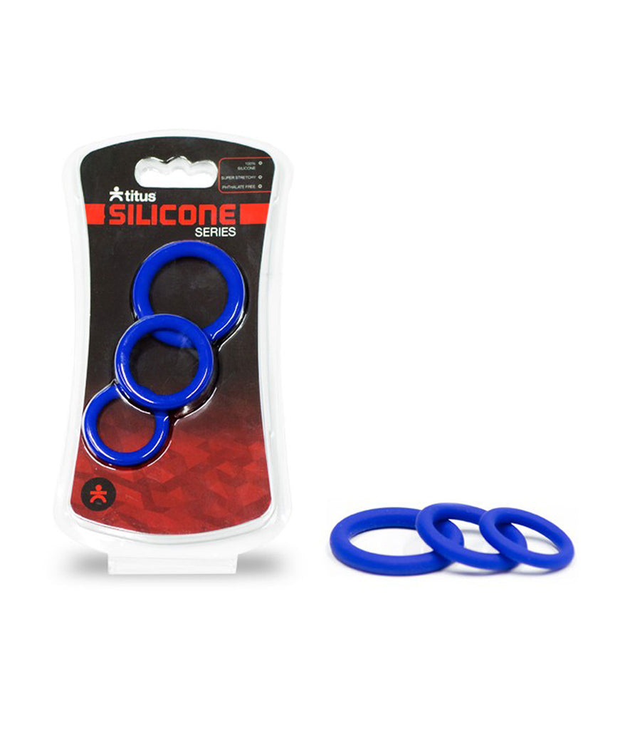 Titus Silicone Series Cock Rings (3 Pack)