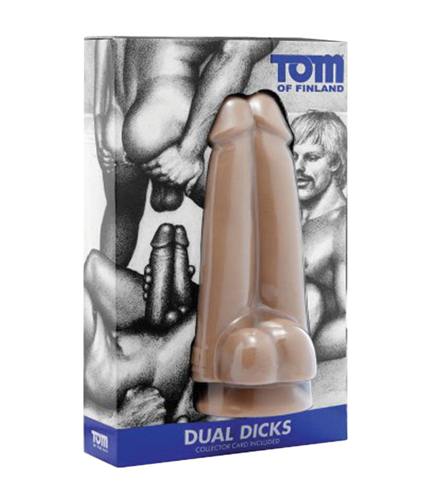 Tom of Finland Dual Dicks with Suction Cup