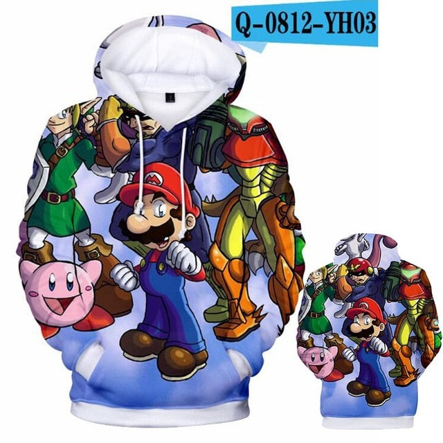 Super Smash Bros. Ultimate Stylized Hoodie