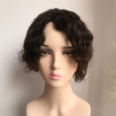 All French Lace Curly Full Wig For Lady