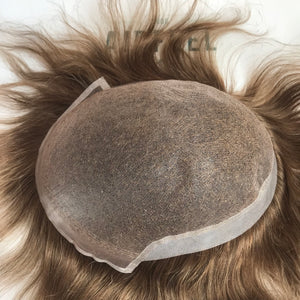 PO-0527119411 Fine Welded Mono With Thin Poly On Sides And Back Toupee For Men