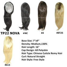 Load image into Gallery viewer, All Thin Poly Cuticle Intact Human Hair Topper 16 inches (TP22)