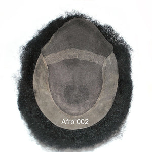 Afro Curl Hair Replacement System for African Men