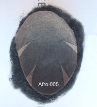 Load image into Gallery viewer, Afro Curl Hair Replacement System for African Men