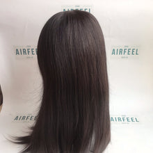 Load image into Gallery viewer, Silk Top Lace Front All Hand Knotted Cuticle Virgin Human Hair Full Wig For Ladies (JW0809)