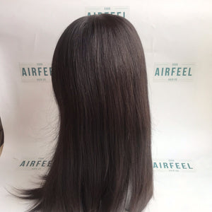 Silk Top Lace Front All Hand Knotted Cuticle Virgin Human Hair Full Wig For Ladies (JW0809)