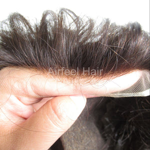 French Lace With Poly On Sides And Back Hair System For Men