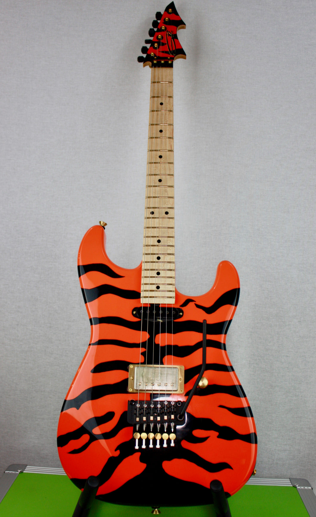 Molly Orange Tiger Stripe Custom Guitar
