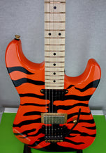 Load image into Gallery viewer, Molly Orange Tiger Stripe Custom Guitar