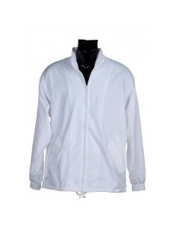 White Larger sizes Rainproof Lined Jacket
