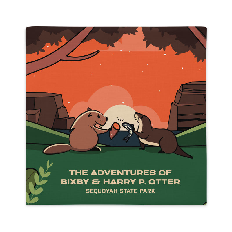 Bixby Y. Beaver & Harry P. Otter - Premium Pillow Case