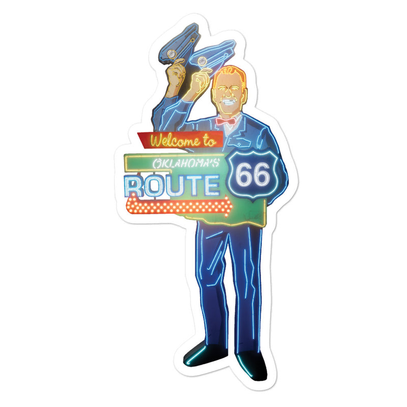 Route 66 - Bubble-free stickers