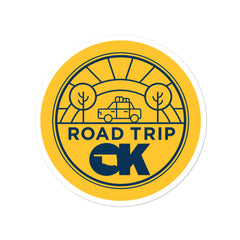 Oklahoma Road Trip - Bubble-free stickers (round)