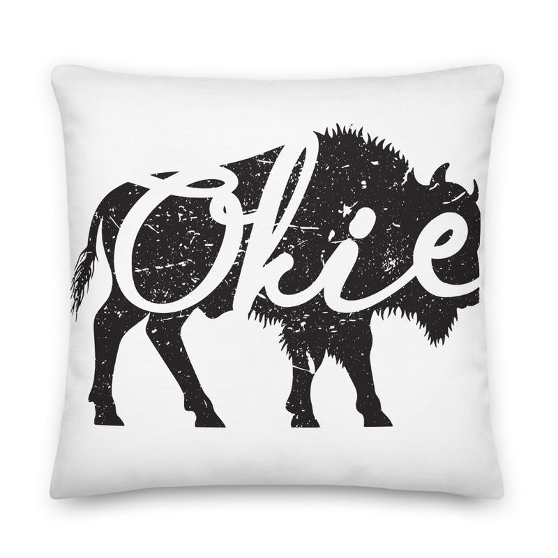 Okie Bison- Premium Pillow