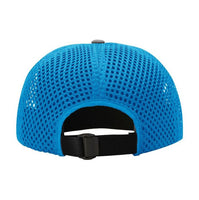 Mayan Moon Lizard Outdoor Perfomance Trucker - Charcoal/Electric Blue