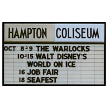 Hampton Coliseum Warlocks Billboard Decal