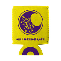 Mayan Moon Lizard Koozie - Lemon