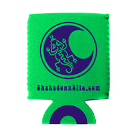 Mayan Moon Lizard Koozie - Lime